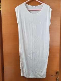 購自韓國白色長身衫