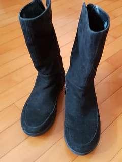 Fitflop 女裝半筒靴、黑色, 37碼