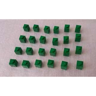 Lego 全新散件,綠色 1x1brick 磚