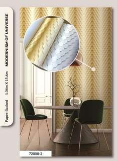 Wallpaper with installation
