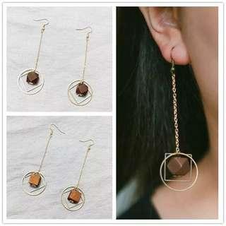 🚚 Geometric and square Korean earring
