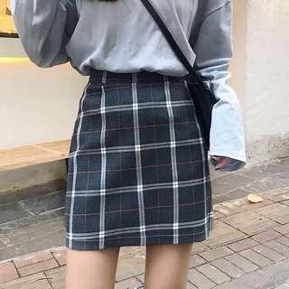 TEM inspired Grid A-line Skirt