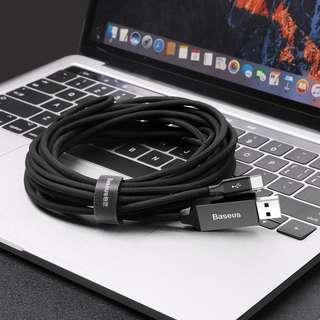 Baseus Artistic striped cable USB For Type-C 3A **5M**