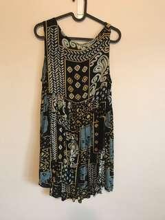 Funky vintage like pattern dress- size 12