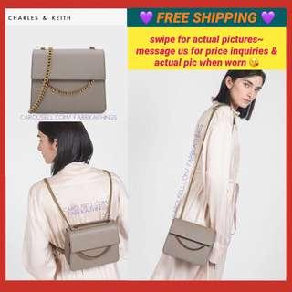 Charles and Keith ♥️ 2 in 1 (Sling Bag into Back Pack)💜