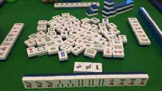 Mahjong set Blue Crystal
