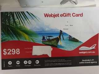 webjet gift card.