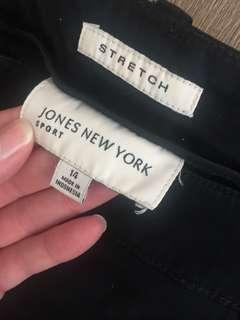 Jones NY Black Capri Pants Size 14