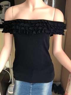 Black Sabrina Top/off shoulder MNG❤️