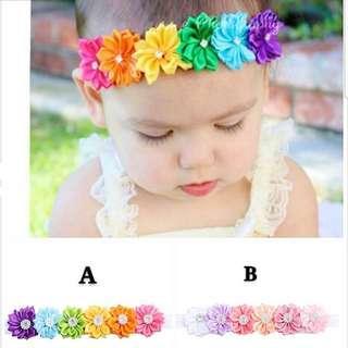 (B8) Baby Girl Children Princess Headband Hair Band Hair Clip Accessories