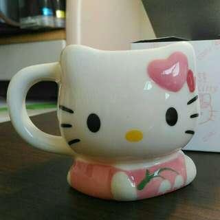 Hello Kitty造型馬克杯 (粉)