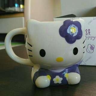 Hello Kitty造型馬克杯 (紫)