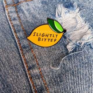 Lemon brooch pin