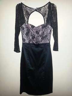 Preloved black dress brukat