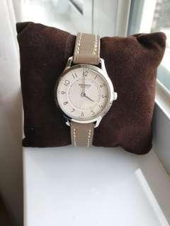 Hermes slim d Acier cadran watch 25mm