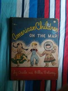American Children on the Map by Cecile and Billie Salway 1940 Garden City HC DJ