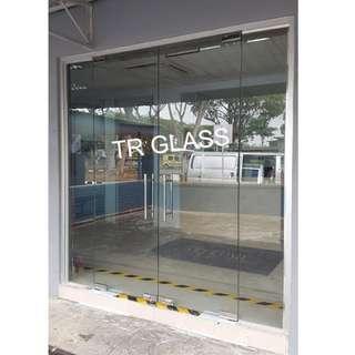 Tempered Glass Floor Spring Door (Shop Entrance)