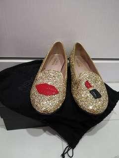Chiara Ferragni Lipstick flats in Gold