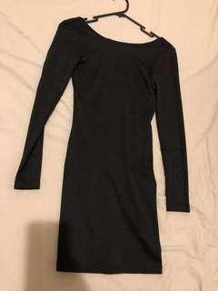 glittery basic dress