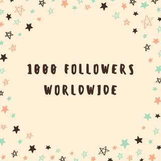 FOLLOWERS INSTAGRAM WORLDWIDE 1K 1000