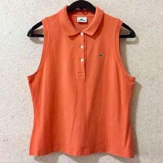 Lacoste Orange Sleeveless