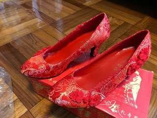 結婚紅鞋/褂鞋(2寸)