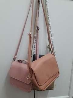 Multiple sling bags to let go