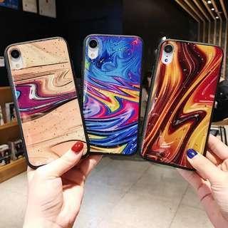 CT-074金箔熔岩啫喱塗層手機殼 iPhone case