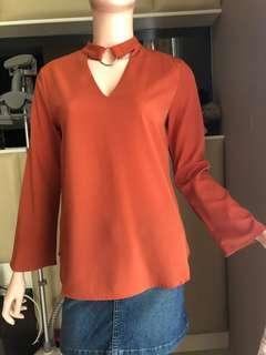 Orange Long sleeves ZALORA ❤️XS fit to S,M