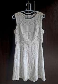 H&M White Lacey Dress (#EST50)