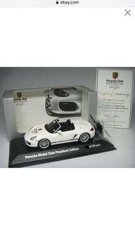 🚚 1:43 Minichamps Porsche Boxster Spyder Porsche Model Club President Edition 保時捷 模型俱樂部限量款