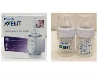 🚚 Brand new Philips Avent bottle warmer & anti-colic bottle 125 ml twin pack