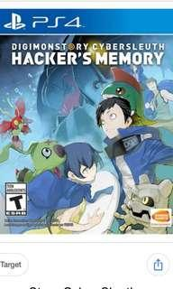 Digimon hacker memory - PS4 game