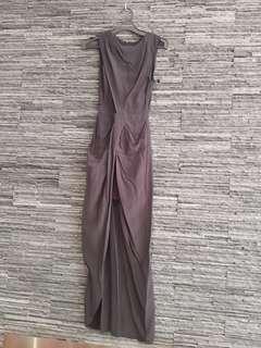 Shakukachi silk black petal dress in black. Size XS