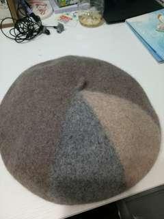 🚚 拼色羊毛貝蕾帽