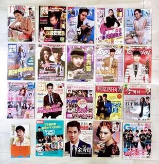 🚚 [韓流]95成新 一本10塊  金秀賢/李敏鎬/全智賢/李洪基/Bigbang/張根碩 雜誌 附海報
