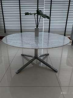 Castlery White Marble Kelso Table