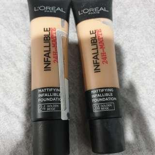 L'Oréal infallible foundation