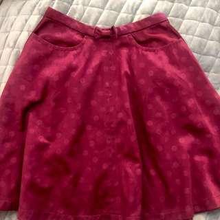 Dangerfield Burgundy Skirt Size 6