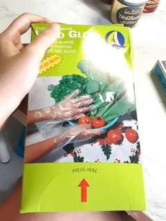 🚚 Hand plastic gloves