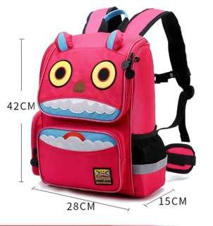 🚚 Pink Monster Backpack. 100% New!