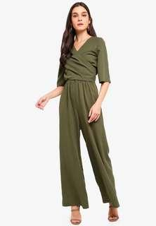 Kimono Sleeves Wrap Jumpsuit