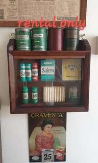 Vintage cig / cigarettes tin (rental only)