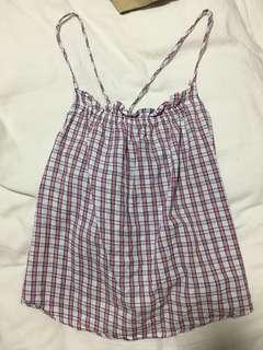 🚚 Checkered Babydoll Top