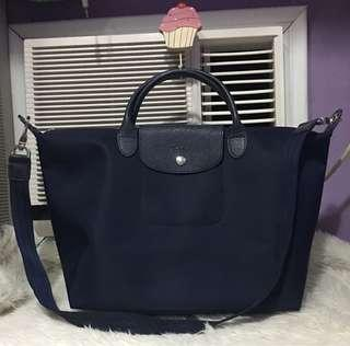 Longchamp Neo medium navy blue with flaw