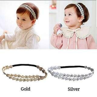 (B16) Baby Girl Children Princess Rhinestones Headband Hair Band Hair Clip Accessories
