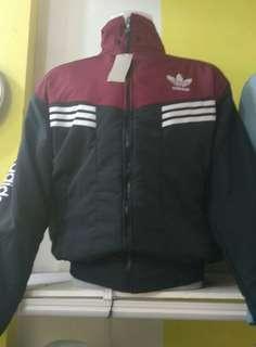 Jaket Adidas Hitam Maroon