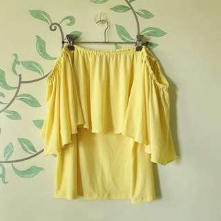 Yellow Off-Shoulder Blouse