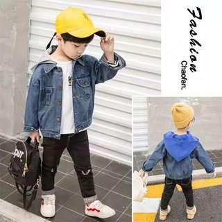 [帥氣baby]帥氣時尚幼童牛仔連帽外套