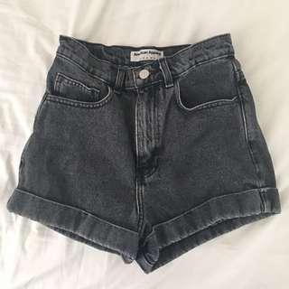 American Apparel Jeans Grey Charcoal Denim Shorts